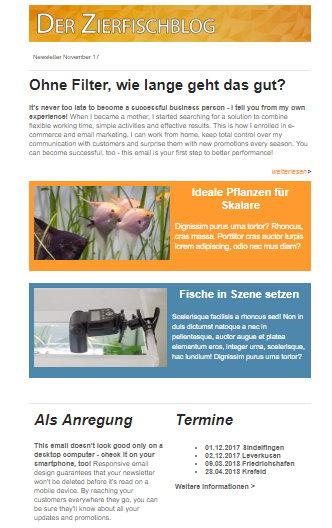 Zierfischblog Newsletter